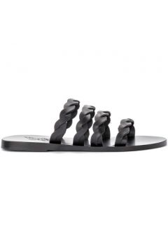 Sandales Ancient Greek Sandals Sandale Modèle Kynthia en cuir noir avec bandes tressées(98503284)