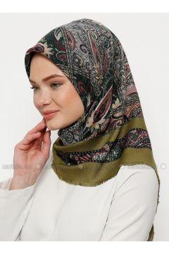 Multi - Printed - Wool Blend - Scarf - Karaca Eşarp(110330116)
