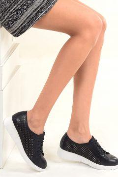 Dr.Flexer Hakiki Deri Lacivert Kadın Ayakkabı(105239077)
