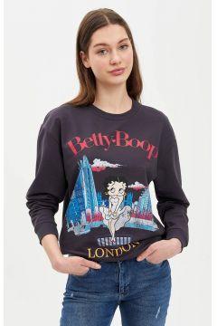 DeFacto Kadın Betty Boop Lisanslı Sweatshirt(119062635)