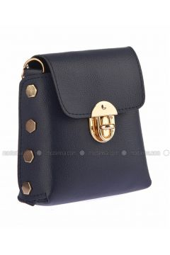 Navy Blue - Shoulder Bags - Housebags(110339785)