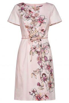 Dress Woven Fabric Kleid Knielang Pink GERRY WEBER(114165034)
