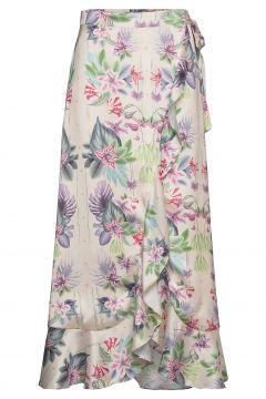 Cindy Skirt Knielanges Kleid Bunt/gemustert BY MALINA(114165417)