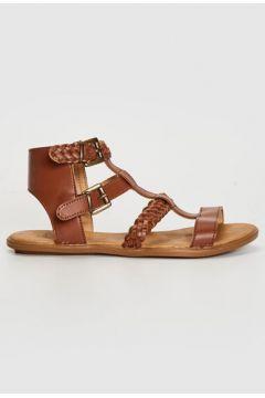 Kadın Kadın Tokalı Örgü Detay Sandalet(113122516)