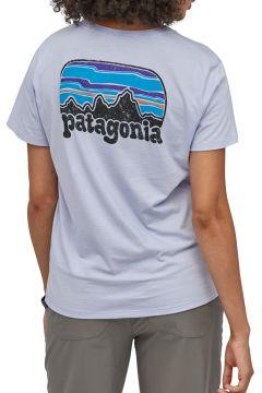 Patagonia Fitz Roy Far Out Organic Crew Pocket Damen Kurzarm-T-Shirt - Beluga(119262337)