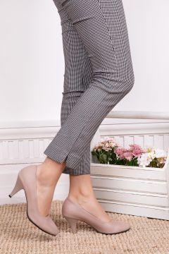 Deripabuc Hakiki Deri VİZON Kadın Topuklu Deri Ayakkabı(124965889)