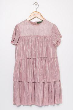 Limon Kız Çocuk Şifon Açık Pembe Elbise(121275895)