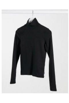 Dr Denim - Awa - T-shirt accollata a maniche lunghe nera-Nero(121761063)