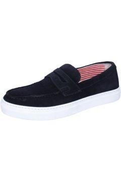 Chaussures Di Mella mocassins bleu foncé daim AB996(115393891)