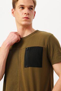 Fabrika Cep Detaylı Haki T-Shirt(113980711)