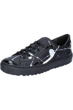 Chaussures Date sneakers noir cuir cuir verni AB561(115395370)