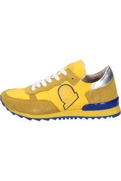 Baskets Invicta sneakers jaune textile daim AB53(115393804)