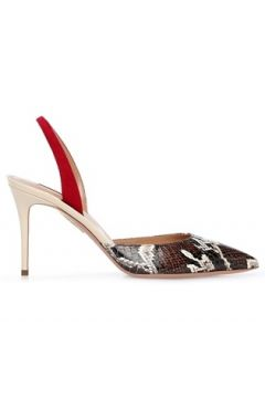 Aquazzura Kadın So Colorblocked Deri Topuklu Ayakkabı Kahverengi 36 EU(120498208)