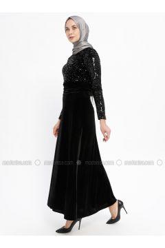 Black - Crew neck - Unlined - Dresses - Laruj(110335720)