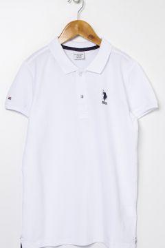 U.S. Polo Assn. Beyaz Erkek Çocuk T-Shirt(125087592)