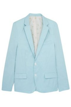 Veste Cavalier Bleu Blazer 2 pearly buttons palm trees lining Light green(115483550)