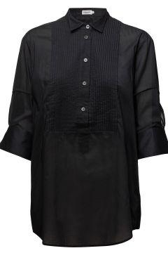 Pintuck Tuxedo Shirt Langärmliges Hemd Schwarz FILIPPA K(108941337)