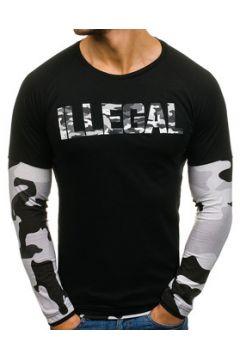 Pull Monsieurmode Pull fashion homme illegal Pull M201 noir camo(115460823)