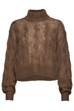 True Sweater Rollkragenpullover Poloshirt Braun HOPE(92126489)
