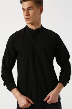 Bad Bear Hakim Yaka Siyah Gömlek(113979638)