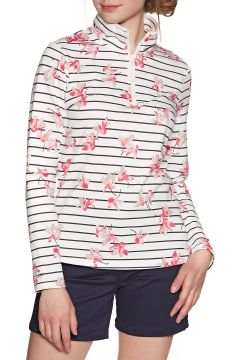 Sweat Femme Joules Fairdale Print - Grey Floral Stripe(111330439)