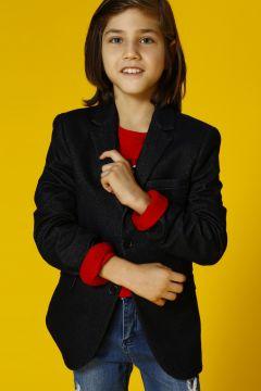 Limon Erkek Çocuk İndigo Ceket(113965320)