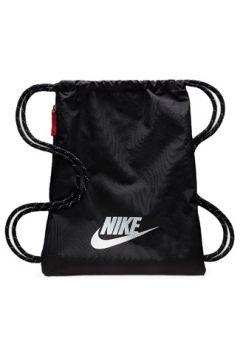Nike Erkek Heritage Siyah Logolu Büzgülü Sırt Çantası EU(113465031)