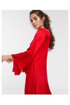In Wear - Courtney - Vestito lungo in rasatello-Rosso(120332560)