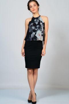 Lipsy Desenli Yaka ve Sırt Detaylı Elbise(123313607)