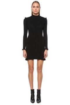 Academia Kadın Siyah Dik Yaka Uzun Kol Mini Triko Elbise S(123840683)