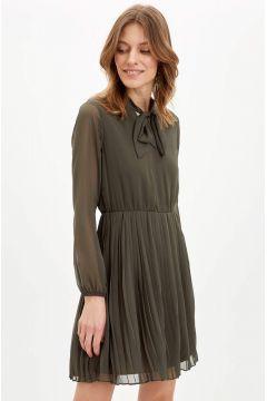 DeFacto Kadın Regular Fit Dokuma Elbise(119061892)