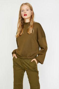 Koton Kadın Yüksek Yaka Sweatshirt(113428012)