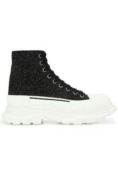 Alexander McQueen Kadın Siyah Taban Detaylı Deri Sneaker 35 EU(123320119)