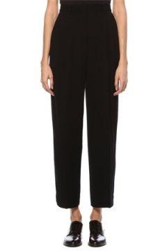 Tory Burch Kadın Siyah Pili Detaylı Pantolon 0 US(124203551)