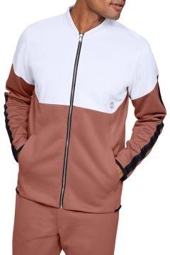 Under Armour 1344135-112 Athlete Recovery Knit Warm Up Top-Wht Erkek Zip Ceket(115295424)