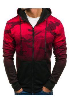 Sweat-shirt Monsieurmode Veste à capuche camouflage Veste zippée M403 rouge(115398547)