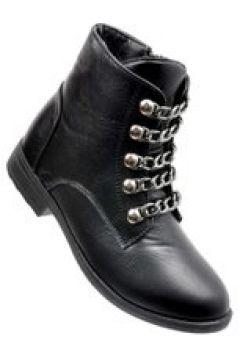 Pantofelek24.pl | Czarne trapery damskie z łańcuszkami(112082497)