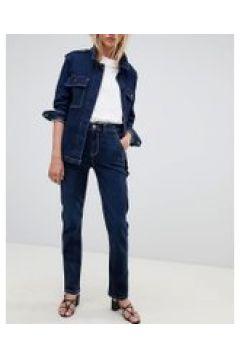 Tomorrow - Pantaloni lavorati in denim sostenibile con cuciture a contrasto-Blu(112835297)