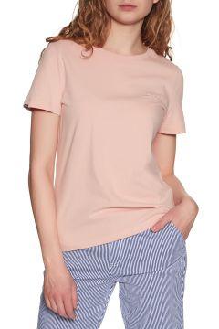 T-Shirt à Manche Courte Femme Superdry Orange Label Elite Crew - Dusty Pink(111331458)