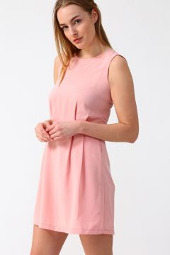 Fashion Friends Sırt Detaylı Pudra Elbise(113978593)