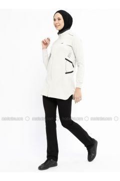 Black - White - Ecru - Polo neck - Tracksuit Set - Bilcee(110319798)