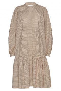 Jang Ls Dress Kleid Knielang Beige SECOND FEMALE(114163795)