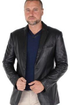 Veste Giovanni Blazer en cuir ref_gvi37175-noir(88512232)