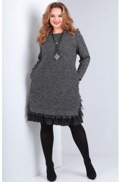 Платье Andrea Style 00233 серый(115246597)