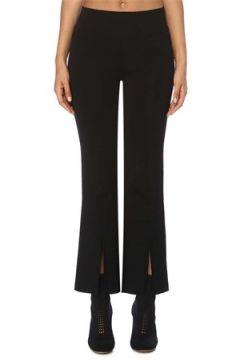 Etty & Jacques Kadın Caroline Siyah Yırtmaçlı Triko Pantolon S EU(120730905)