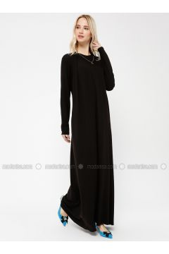 Black - Crew neck - Dresses - Minimal Moda(110331237)