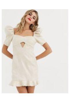 Skylar Rose - Vestitino con maniche a sbuffo e incrocio sul davanti-Oro(120331834)