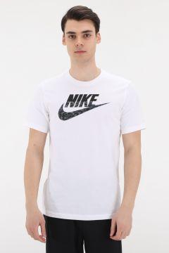 Nike M Nsw Camo Ss Tee Erkek T-Shirt Beyaz(127364367)