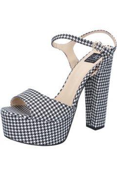Sandales Islo sandales noir textile blanc BZ235(88470272)
