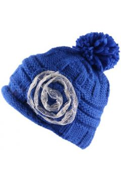 Bonnet Nyls Création Bonnet à pompon Lya Bleu dentelle beige(98753555)